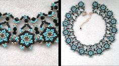 Beading4perfectionists : Netted necklace, putting the designs together Part 2 of 2, via YouTube.