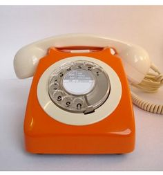 Retro orange phone