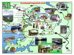 Eureka Springs West Tourist Map - Eureka Springs Arkansas •