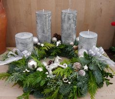 My wreaths will be shipped from November and freshly delivered two days before ., My wreaths will be shipped from November and freshly bound two days before. The pictures are sample wreaths. On this wreath are beautiful colored. Christmas Advent Wreath, Christmas Candle Decorations, Christmas Lamp, Holiday Decor, Acorn Crafts, Christmas Is Coming, November, Candles, Craft Ideas