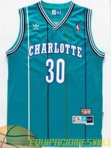 b5e8c476d Camiseta nba Charlotte Hornets Curry  30 malla pano green retro