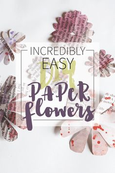 Super easy to make - all you need is paper and scissors and 5 minutes. Incredibly Easy DIY Paper Flowers are great for scrapbooking, gifts, cards, etc. Paper Flowers Diy, Diy Paper, Paper Crafts, Make All, All You Need Is, How To Make, Easy Diy, Artsy, Valentines