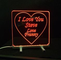 Personalized LED Sign with Heart.  Proposal Idea. Will You Marry Me?