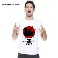 Altert Beast wolf T shirt Homme 2017 New Japanese Warrior T Shirt Men Cool Summer Short Sleeves Funny T-shirt Men's Tee Shirts #Affiliate