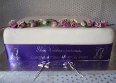 Silver Wedding Anniversary Personalised Ribbon - ideal for Cake!    Hot Graphix & Signs