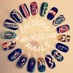 Colorado Nail Art by SJS #nails #nailart #naildesign #nailsbysjs #colorado