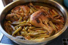 Μπάμιες με κοτόπουλο στο φούρνο και ψωμάκι !!! Breakfast Recipes, Snack Recipes, Greek Recipes, Chicken Wings, Food And Drink, Meat, Cooking, Kitchens, Snack Mix Recipes