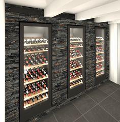 VintageKeeping Glass Wine Cellar, Home Wine Cellars, Wine Cellar Design, Caves, Cave A Vin Design, Wine Cellar Basement, Restaurant Counter, Wine Storage Cabinets, Wine House