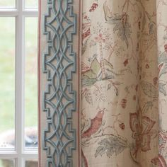 abode home ( Drapery Styles, Drapery Designs, Drapery Ideas, Curtains And Draperies, Burlap Curtains, Curtain Trim, Curtain Rods, Samuel And Sons, Velvet Drapes