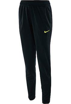 NIKE Women's Knit Soccer Pants in Black/Volt - Medium