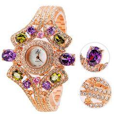 Smays Diamond Metal Woman Watch (Copper)