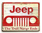 Jeep Wood Signs! Love all the RED ones