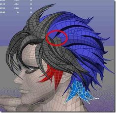 3d anime hair maya modeling