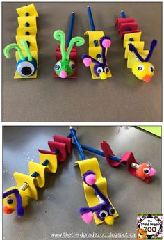 Looking for a cute Spring themed craft idea? Check out these Caterpillar Pencil Toppers!