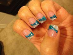 Latest nails! Kinda cool!! :-) Fabulous Nails, Gorgeous Nails, Pretty Nails, Blue Gel Nails, Acrylic Nails, Hot Nails, Hair And Nails, Beauty Hacks Nails, Beauty Tips
