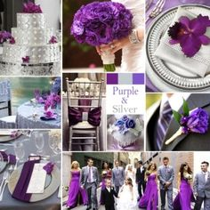 """Purple and Silver Wedding Colors - Aaah, purple with silver … sophisticated and """"rich"""", this combination works for any season and makes a by anne"""