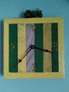 John Deere Pallet Clock by WOODNTIME on Etsy, $40.00