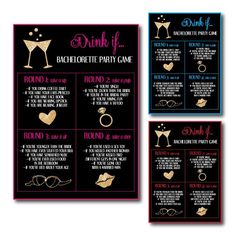 Bachelorette Drinking Game. Plan the perfect girls night out or in with our invites, bachelorette games, party favors, and more. Get DIY tutorials to make the night the best ever. Plan a last swing before the ring, or a last flamingle luau. With our 100s of theme ideas, you're sure to find a theme perfect for the bride. Or shop our 1000+ designs for all of life's journeys. Weddings, birthdays, new babies, anniversaries, and more. Only at Aesthetic Journeys.