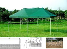 The Party Tent 20 x 10 Sun Shelter