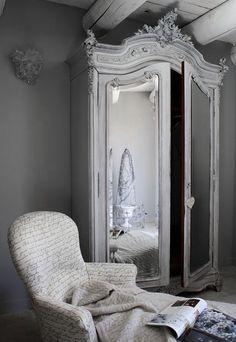 wardrobe ♅ Dove Gray Home Decor ♅ french armoire in grey