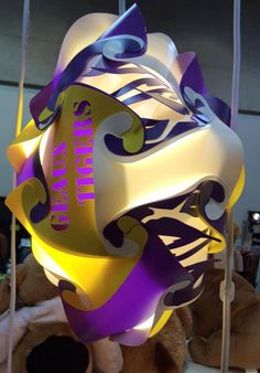 LSU Tigers Football Shaped Puzzle Lamp by GetLightMe on Etsy