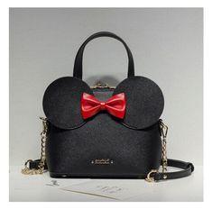 2fa488431793 Fashion Handbags PU Leather Women Bag Mickey Mouse Big Ear Bow Chain  Shoulder