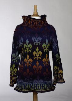 Fleur de Lis sweater by Denise Kovnat, via Flickr