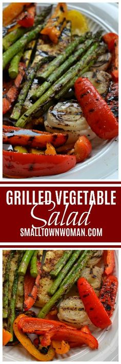 Grilled Vegetable Salad brings together bell peppers, zucchini, yellow squash, onions and asparagus grilled to perfection and drizzled with a balsamic reduction sauce.