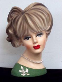 Vintage Napco Lady Head Vase C7473 -