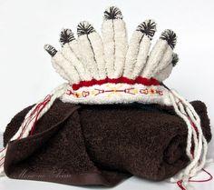 Towel Headdress Special order for Sandra by MonoNoAvare on Etsy