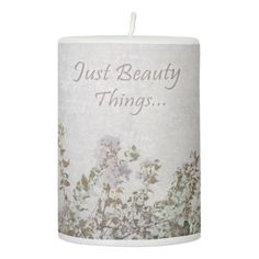 #Shabby Chic Style Motivational Quote Pillar Candle - #candle #candles #special #custom