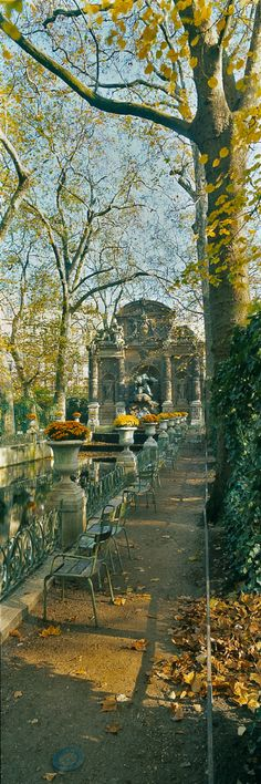 Autumn at Medici Fountain, Parc du Luxembourg, Paris, France