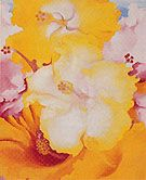 Hibiscus 1939 - Georgia O'Keeffe reproduction oil painting