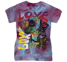 Dog shirts are the next best thing! Expand your collection with the Boxer Luv T-Shirt from The Mountain! 3d T Shirts, Cool T Shirts, T Shirts For Women, Boxer Love, Dog Lady, Love T Shirt, Cool Tees, Mens Tops, Dean Russo
