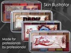 Skin Illustrator FX makeup palettes Illustrator, Tooth Palette, Flesh Tones, Dark Flesh Tones, Zombie