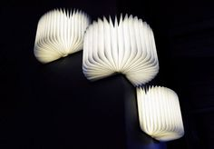 3 Lumio LED Book Lamps