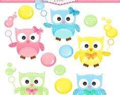 ON SALE owl clip art INSTANT Download Digital clip art owls