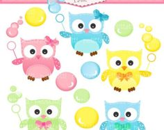 ON SALE owl clip art INSTANT Download Digital clip art owls