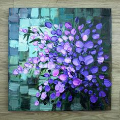 [Direct] painter pure hand-painted oil painting minimalist modern frameless painting decorative painting after painting knife painted purple - Taobao