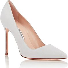 325239b3e583 Manolo Blahnik BB Pointy Toe Pump in Light Grey Suede - Meghan Markle s  Shoes
