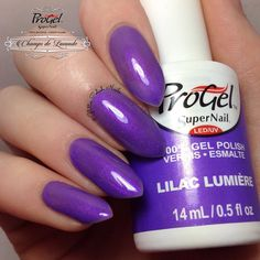 We are so happy to announce that we teamed up with @glitter.polish.nails to unveil the swatches for the Champs De Lavande #ProGel collection.   The first swatch is Lilac Lumière, a vivid purple shimmer. It is perfect to wear alone or for upcoming seasonal  #nailart.   Big thanks to @glitter.polish.nails.   #snChampsDeLavande #SuperNail#SuperNailProfessional #progel