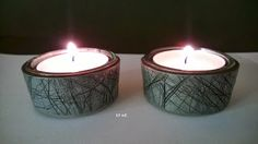 Candleholders in Polymer Clay by BY ME Candleholders, Votive Candles, Clay Candle Holders, Pasta, Incense, Polymer Clay, Crafts, Inspiration, Fimo