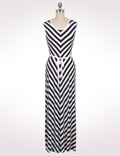 521ba1ac592 Calvin Klein Striped Maxi Dress