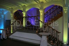 Lighted stairs for a special event