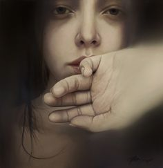 "Peter Matthews; Oil, 2009, Painting ""Girl in the Window"""