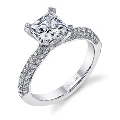 Gorgeous! Sylvie Collection princess-cut #diamond engagement ring