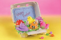 PEEPS® Egg Carton Decoration