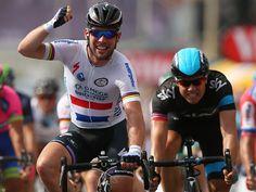 TOUR DE FRANCE 2013 STAGE FIVE  Mark Cavendish edging out Edvald Boasson Hagen for the win