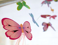 Printable Butterflies from Family Fun.  For a diy mobile but they'd be cute to cut out and just use for decorating.