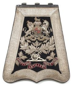 Sheffield Artillery Volunteers. Officer's sabretache